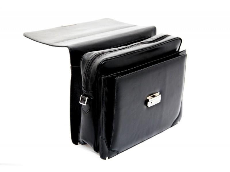cartable serviette en cuir monaco pour ordinateur portable. Black Bedroom Furniture Sets. Home Design Ideas
